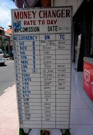 Example of Dodgy Money Changer in Bali